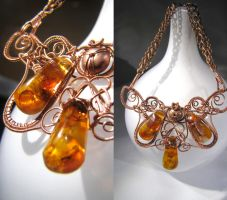 Copper and Amber by dieDrahtzieherin