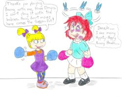 Boxing Angelica and Elmyra by Jose-Ramiro