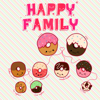 Donuts Family by pedronekoi