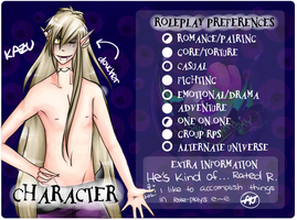 HM: RolePlay Preferences: Kazu by Bootsii