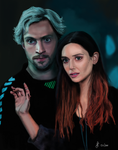 Quicksilver and Scarlet Witch by Saryetta86