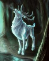 The white stag by kaithel