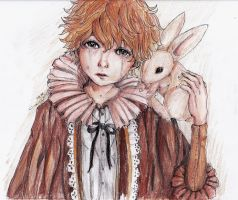 Boy and His Bunny: 5 Color Challenge by marikit
