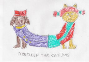 Fernellen the Catdog - colored version by dth1971