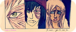 The depth of pain in your eyes...Irks me. by Meka-Sama