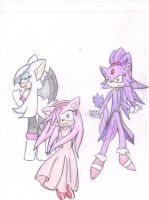 Rouge, Amy and Blaze by Sayonara------Shadow