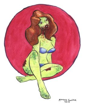 Zombie Pinup by Coulterish