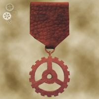 Steampunk Gear Medal 5 by Utinni