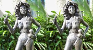 3d Busty Chris Owens Statue 3 full size by 3dpinup