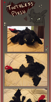 Toothless plushie by pink-feet