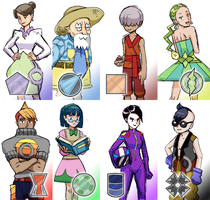 Gym Leaders and Badges by Ar-Bo