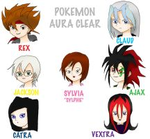 Pokemon Aura Clear Characters by Dark-Anmut