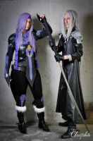 Caius and Sephiroth by Harker-Cosplay
