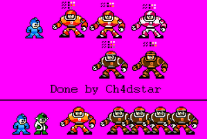 Quarterbot and Tacklebots Sprite by Ch4dStar