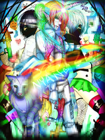 Robot Unicorn Nyan Cat Attack::WARNING: RAINBOWS. by Maximum-Delusion