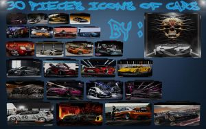 30 pieces icons of cars For Dock Bar by THERECORDBLACK01