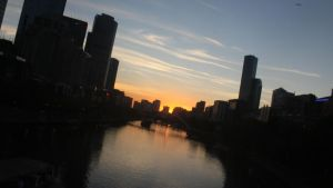 Sunset Upon Melbourne by mitchell00