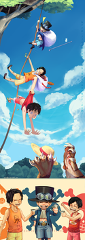 OP: Ace Sabo Luffy 'Brothers' by Yamineftis