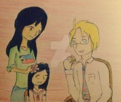 One Happy Family - Philippines, America and Pamie by Dhanica02