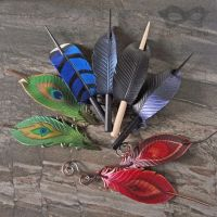 Feather Hair Slides by Beadmask
