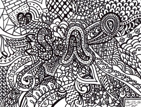 Zentangle by ThymeleNights