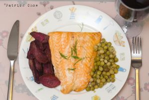Salmon and peas 1 by patchow