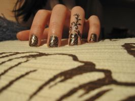 Henna Inspired Nails by complimentarymints