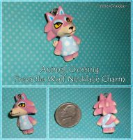 Animal Crossing - Freya Wolf Necklace Charm - ACNL by YellerCrakka