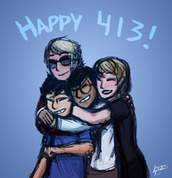 Happy 4/13! by StaticColour