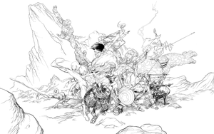 Avengers Print Completed Line Art by RobPaolucci
