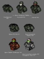 Imperial Guard Carapce Armour variants #1 by DarkLostSoul86