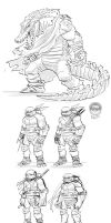 TMNT Commission Character Designs by EryckWebbGraphics