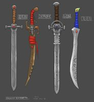 Sword Concepts by DemonToaster