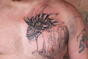 Dragon Chest to Sleeve sitting one by danktat