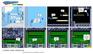 Megaman and Sonic - Sprite Comic by Cuddlesnowy