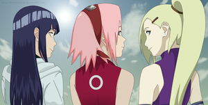 Hinata , Sakura and Ino by DemonFoxKira