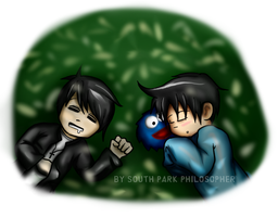 South Park Ike and Kinder Goth by SouthParkPhilosopher