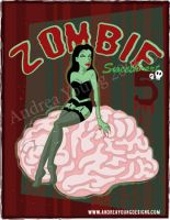 Zombie Babe by sexyillustrator