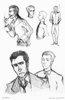 Lije and Daneel sketches by CalSparrow
