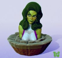 Tooned She-Hulk by DocSinistar