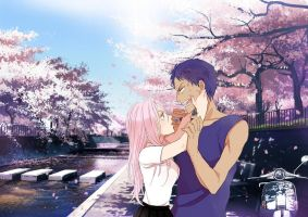 Aomine and Momoi by YachiruXxXShouta