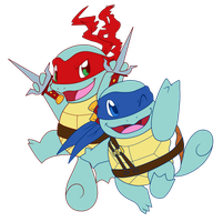 A TEAM Ninja Squirtles by AR-ameth
