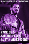 .:Austin Aries Icon Pack: Smiling Faces:. by Neurotic-Idealist