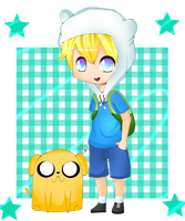 Finn and Jake colored by xXBloody-MagicXx