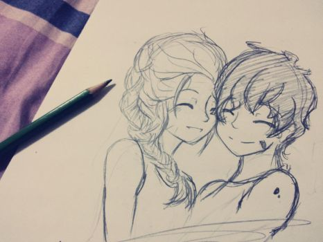 Emma and Julian *doodle* by DanchouLoli-chi