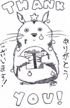 Totoro Thank Yous: Christmas 2012 by everybodypanic