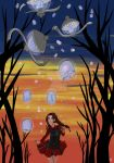 Lanterns in the Forest- Happy Halloween by BlackCatINK