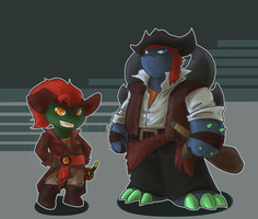 tmnt Pirates Slash Raph Chibi by Dragona15