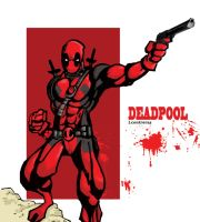 deadpool pinup by Daautom8or
