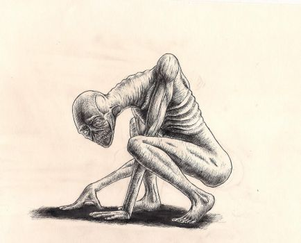 Crouching Creature by rhyshaug